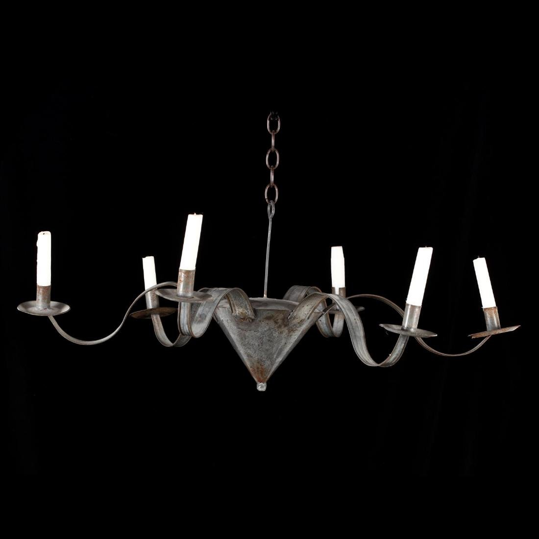 Primitive Tin Candle Light Chandelier