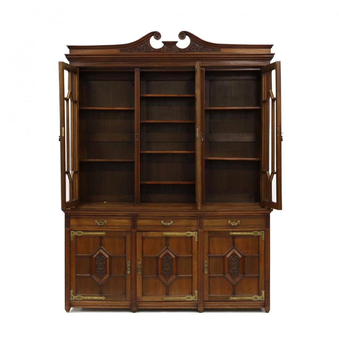 Aesthetic Period Carved Mahogany Bibliothèque - 2