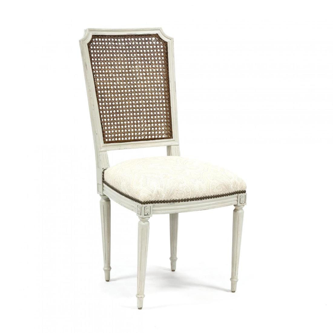 Set of Six Louis XVI Style Painted Dining Chairs - 2