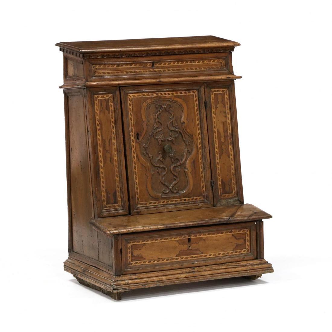 Antique Inlaid Prie-Dieu Cabinet