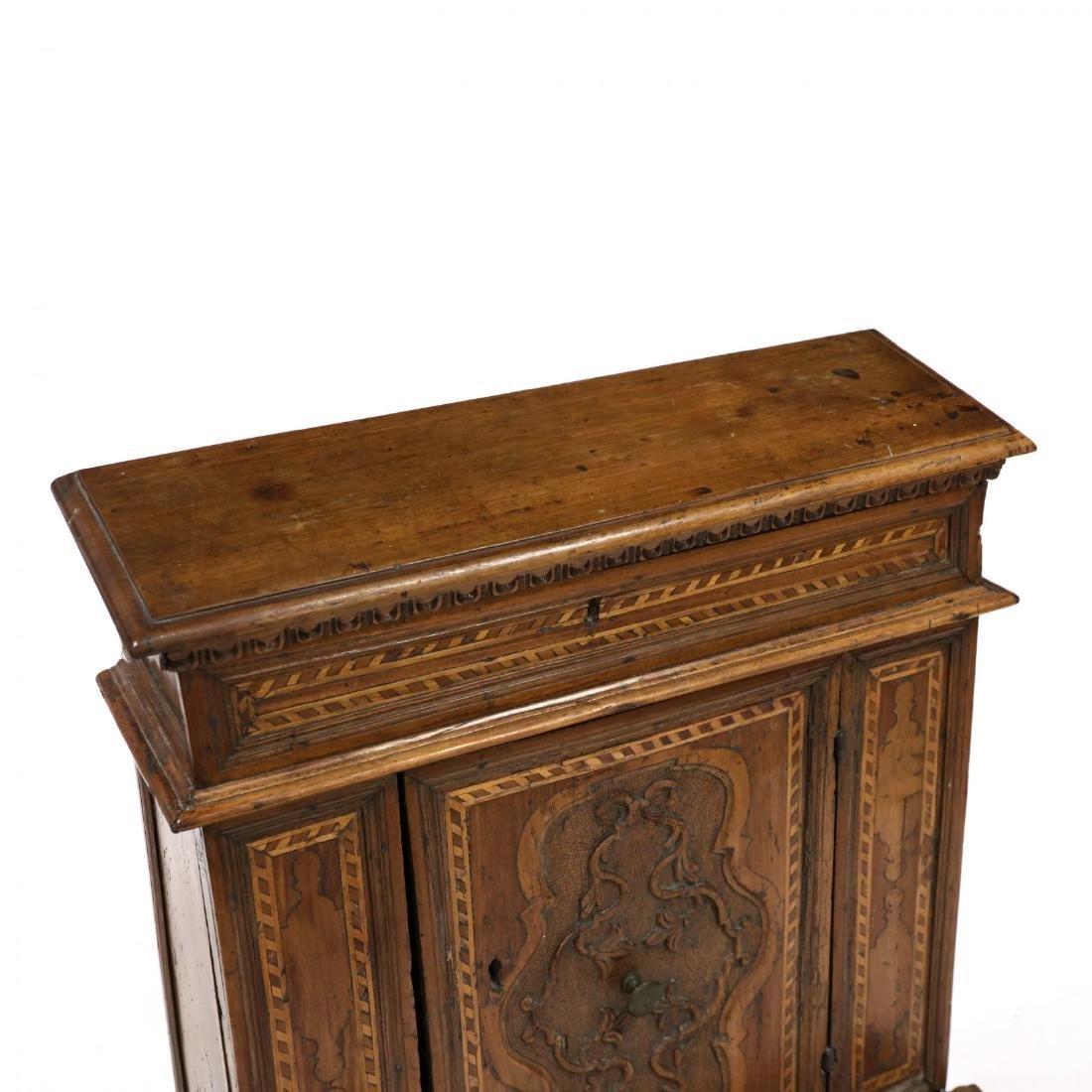 Antique Inlaid Prie-Dieu Cabinet - 2