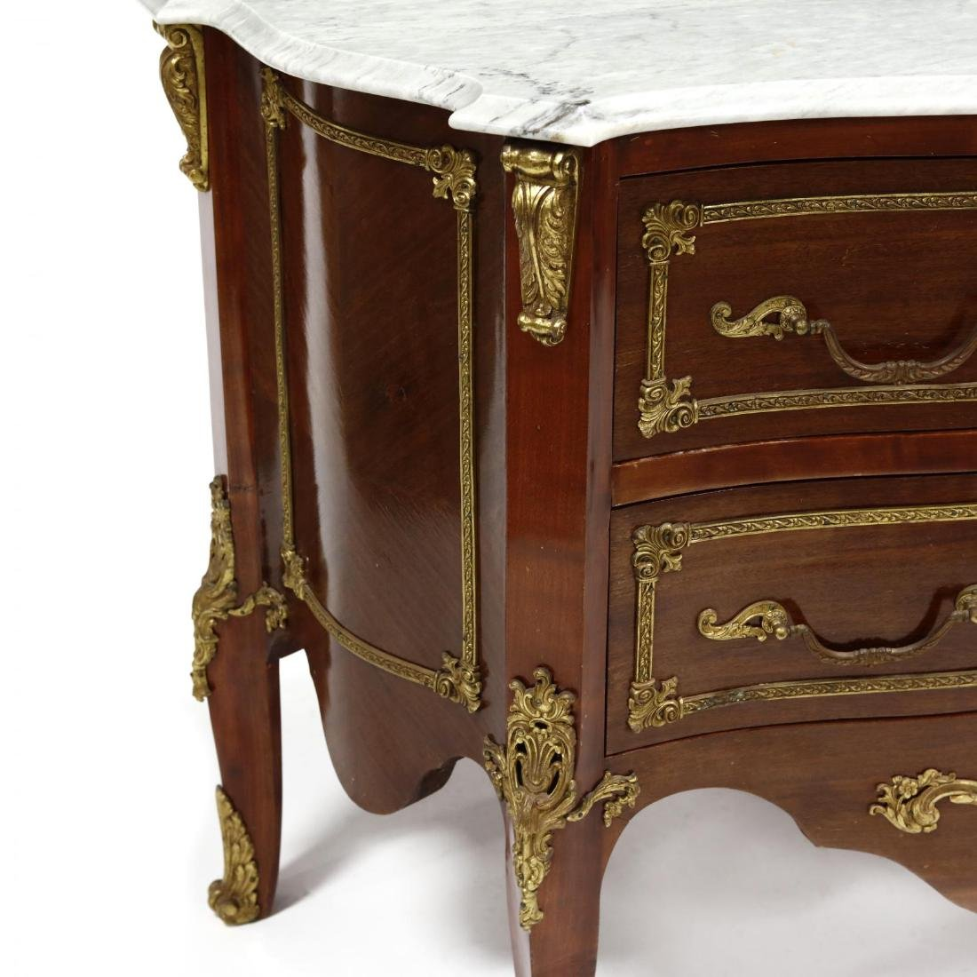 Louis XV Style Marble Top Commode - 3