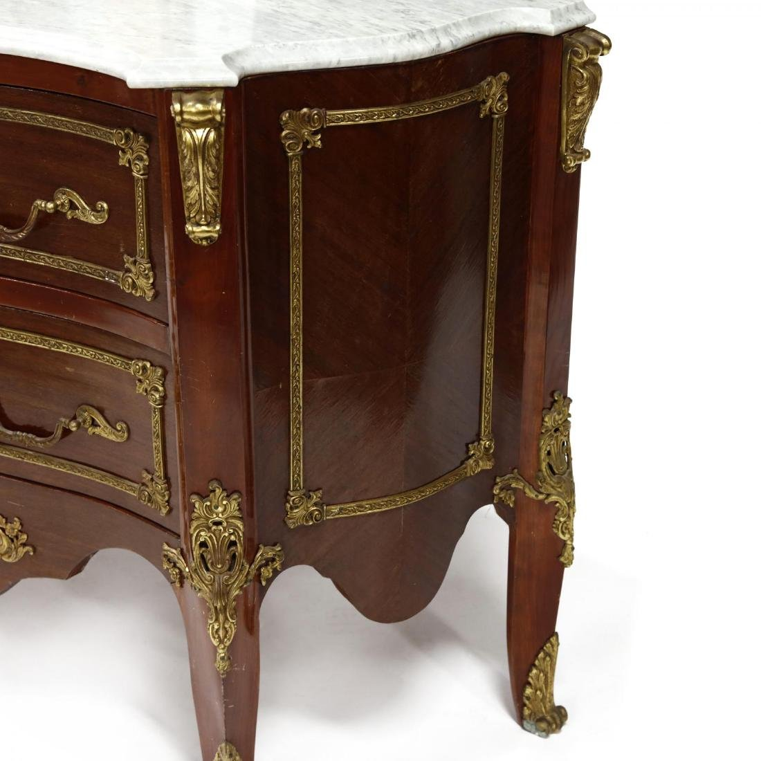 Louis XV Style Marble Top Commode - 4