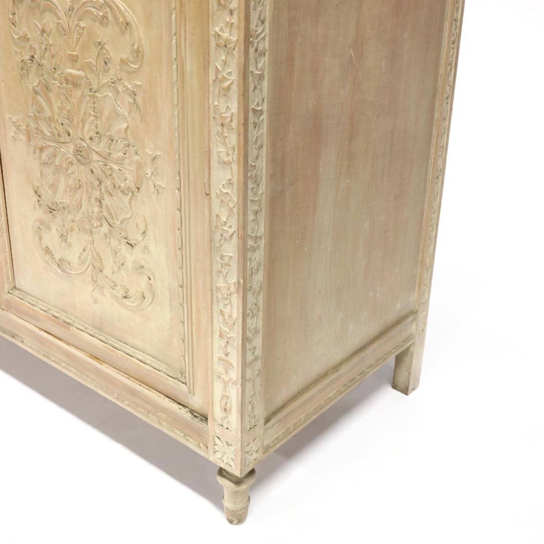 Italian Carved Marble Top Cabinet - 2