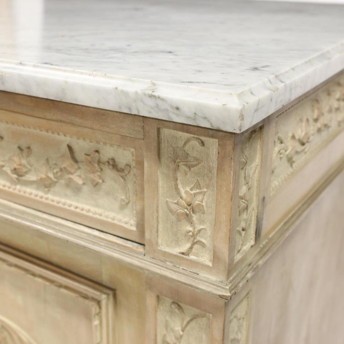 Italian Carved Marble Top Cabinet - 3