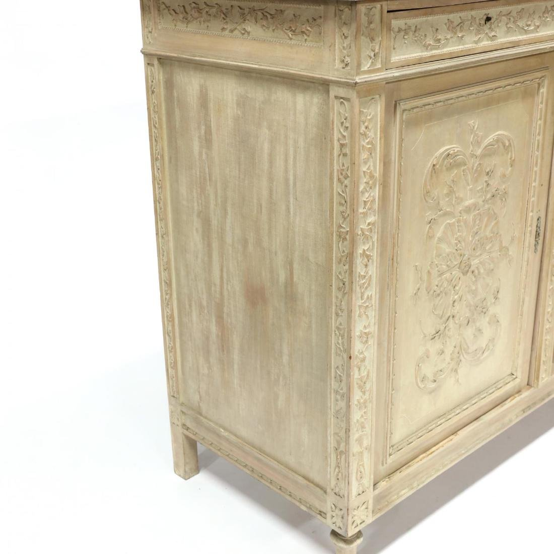 Italian Carved Marble Top Cabinet - 4