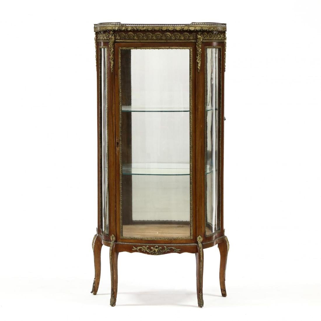 French Empire Style Marble Top Vitrine