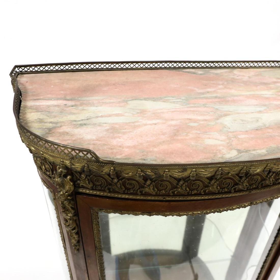 French Empire Style Marble Top Vitrine - 2
