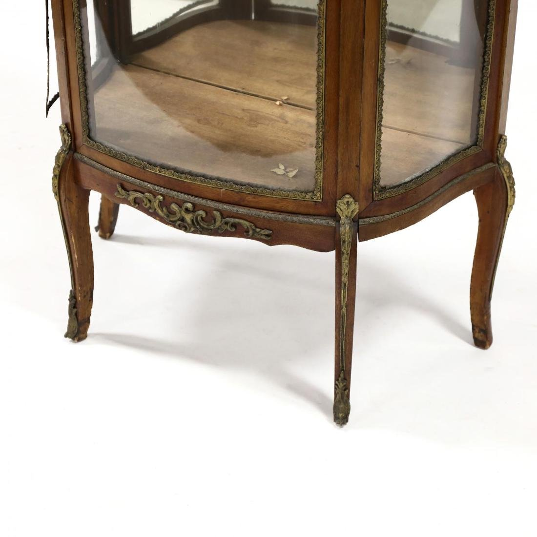 French Empire Style Marble Top Vitrine - 3