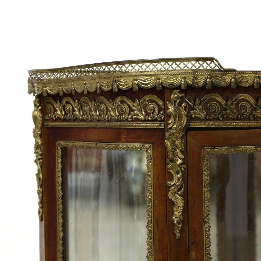 French Empire Style Marble Top Vitrine - 5