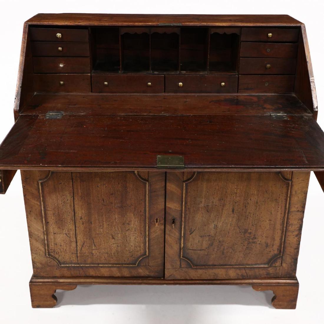 Continental Antique Slant Front Desk - 2