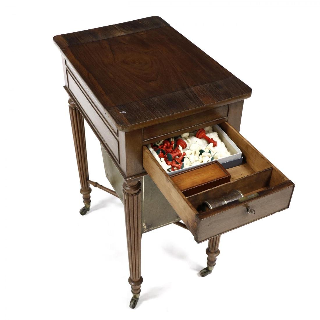 William IV Rosewood Games Table - 3