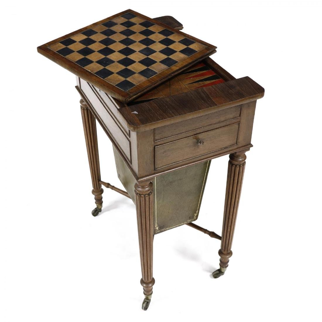 William IV Rosewood Games Table - 4