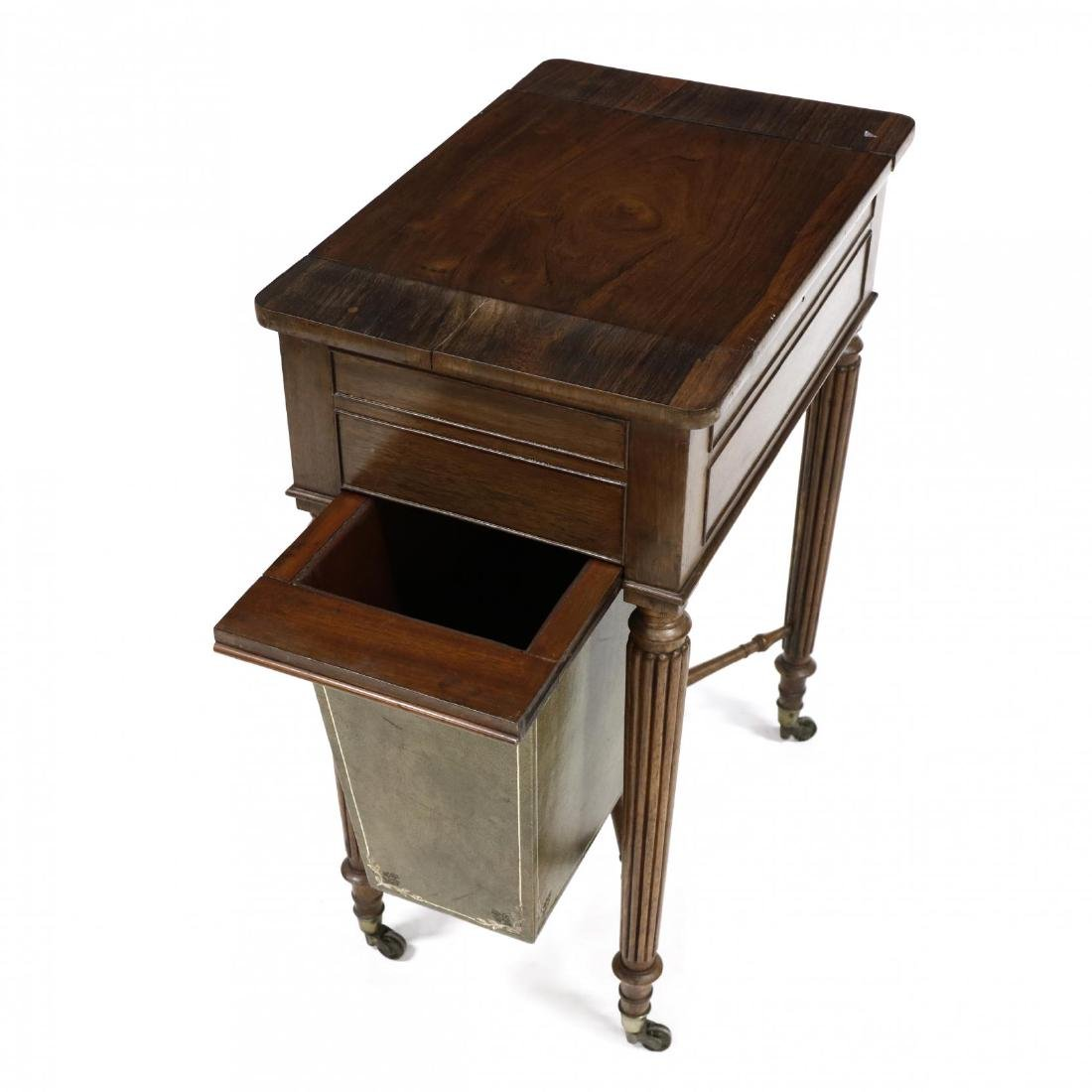 William IV Rosewood Games Table - 5