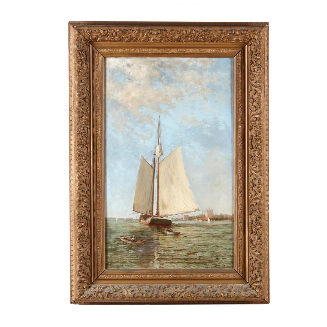 T. Basden (English, 19th century), Harbor Scene