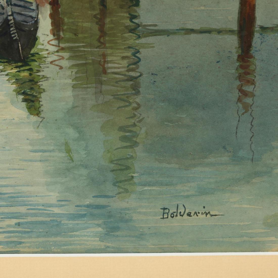 A Pair of Vintage Venetian Watercolors - 4