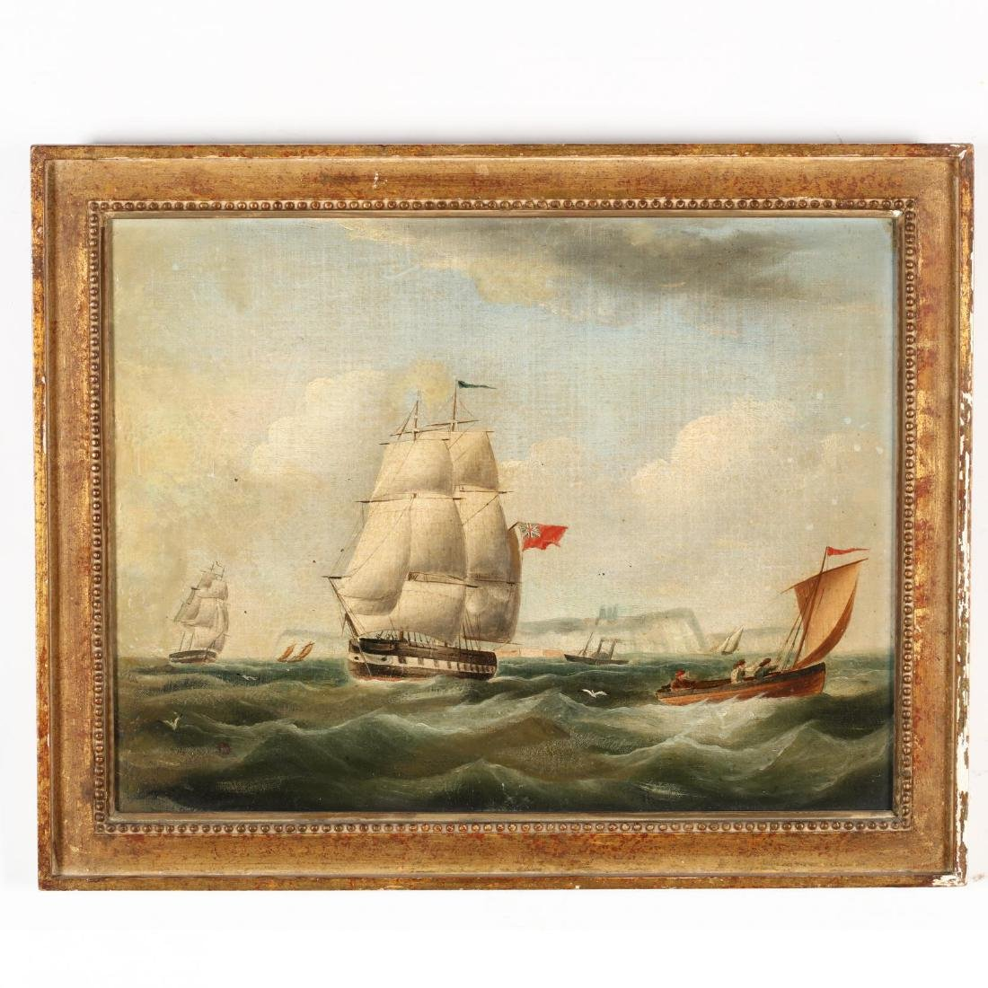 A Pair of Antique English Maritime Paintings - 2