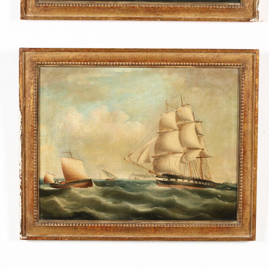 A Pair of Antique English Maritime Paintings - 3