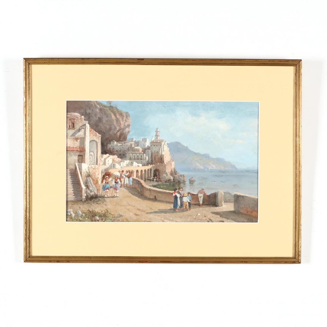 Giulius Guelfi (Italian, circa 1900),  Atrani Near