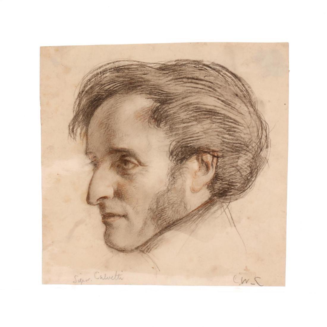 Charles West Cope (English, 1811-1890),  Signor