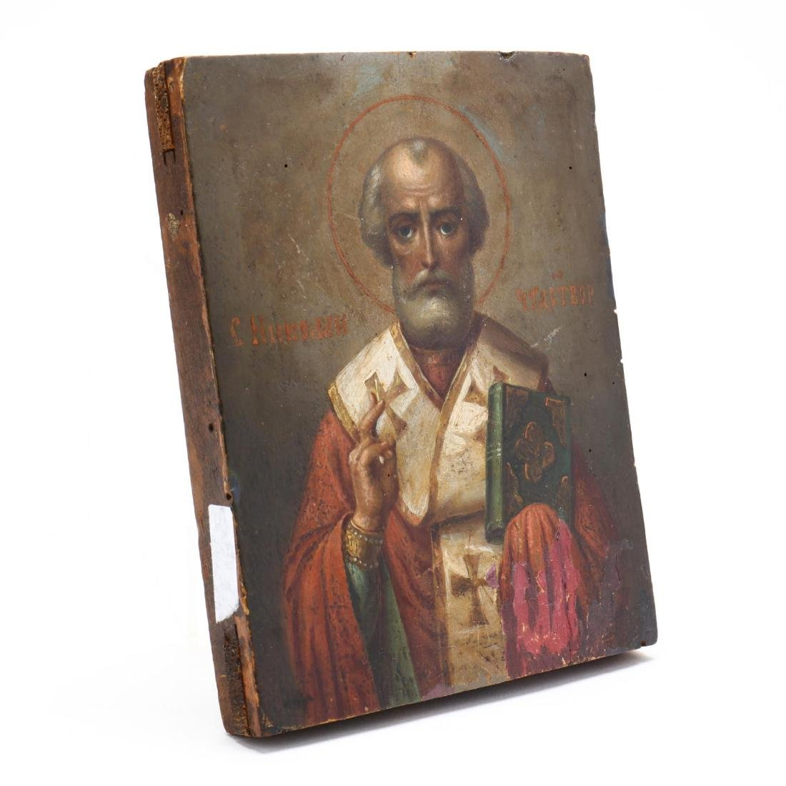 An Antique Russian Icon of Saint Nicholas - 2