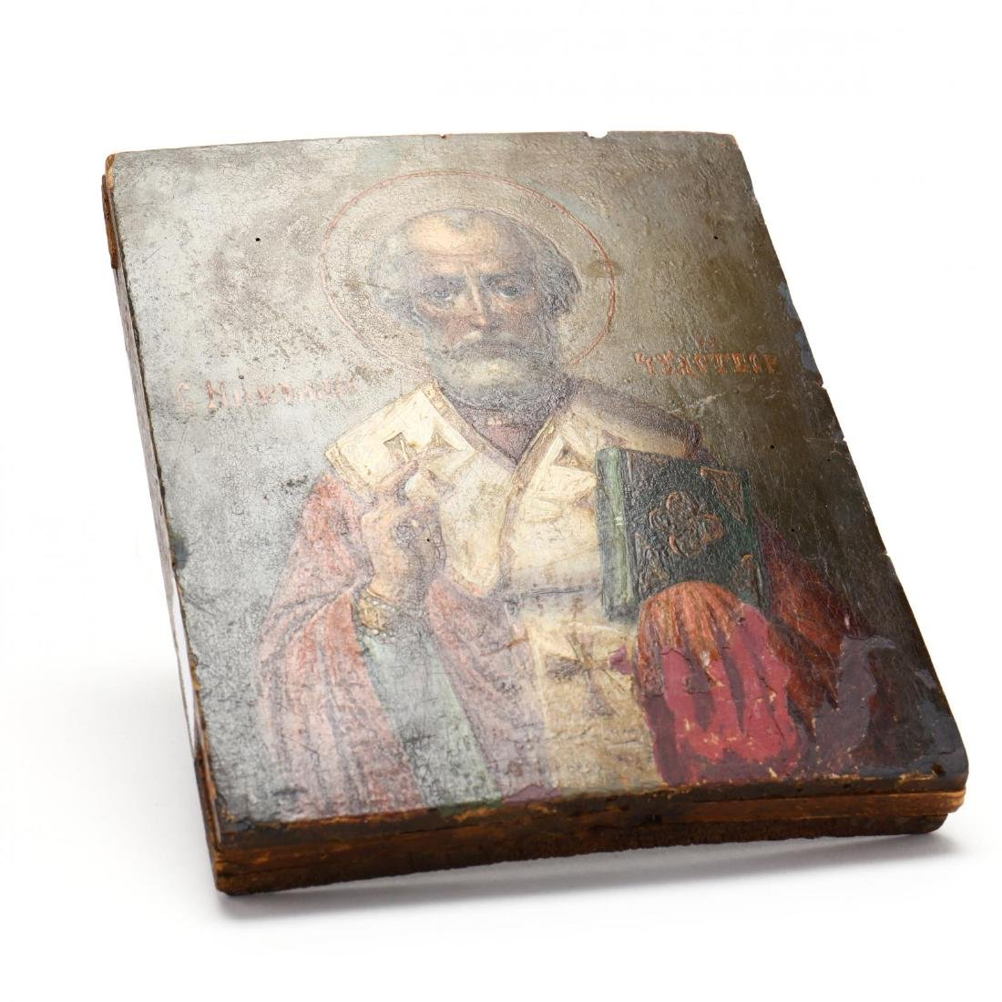 An Antique Russian Icon of Saint Nicholas - 3