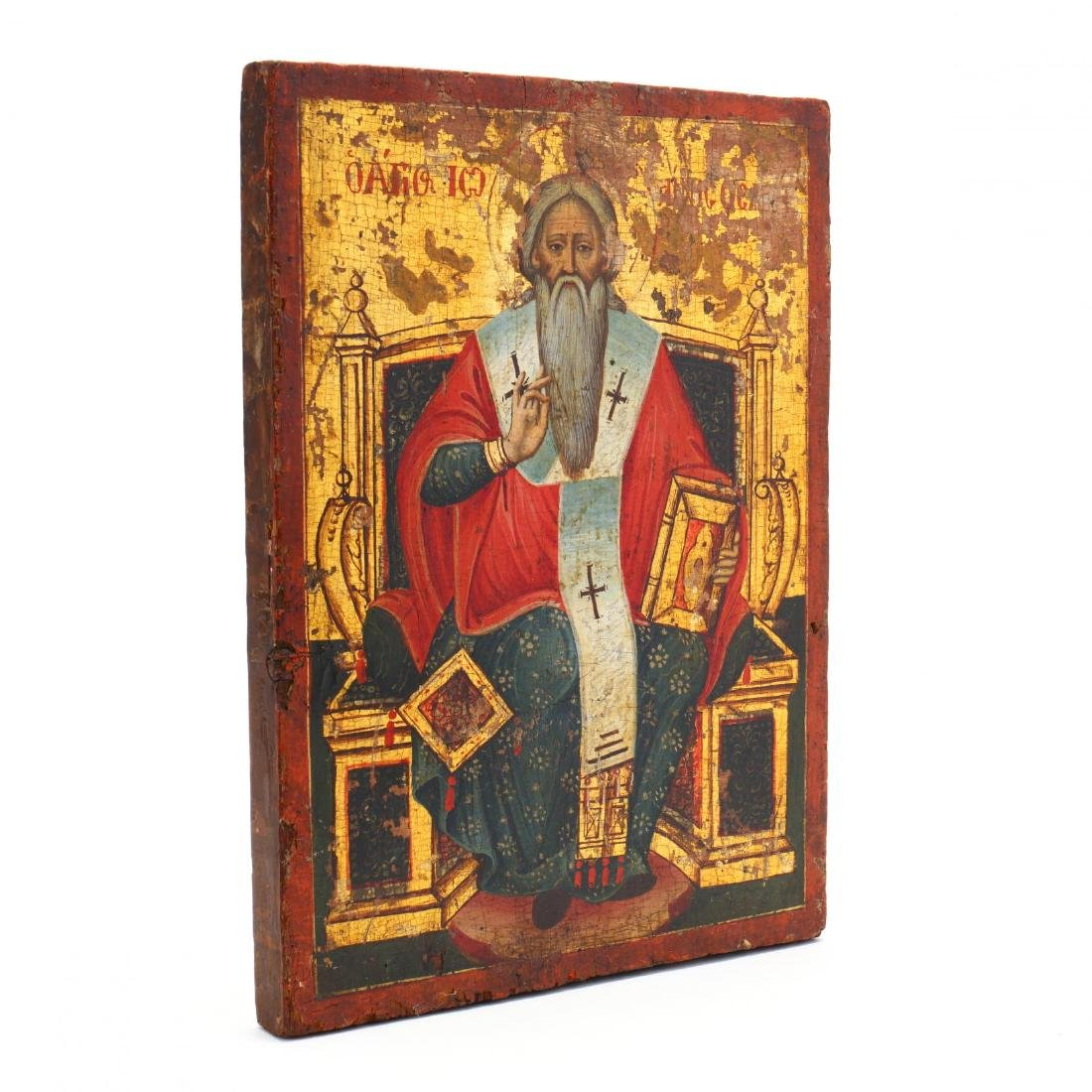 An Antique Icon, Possibly Saint Clement of Ohrid - 2