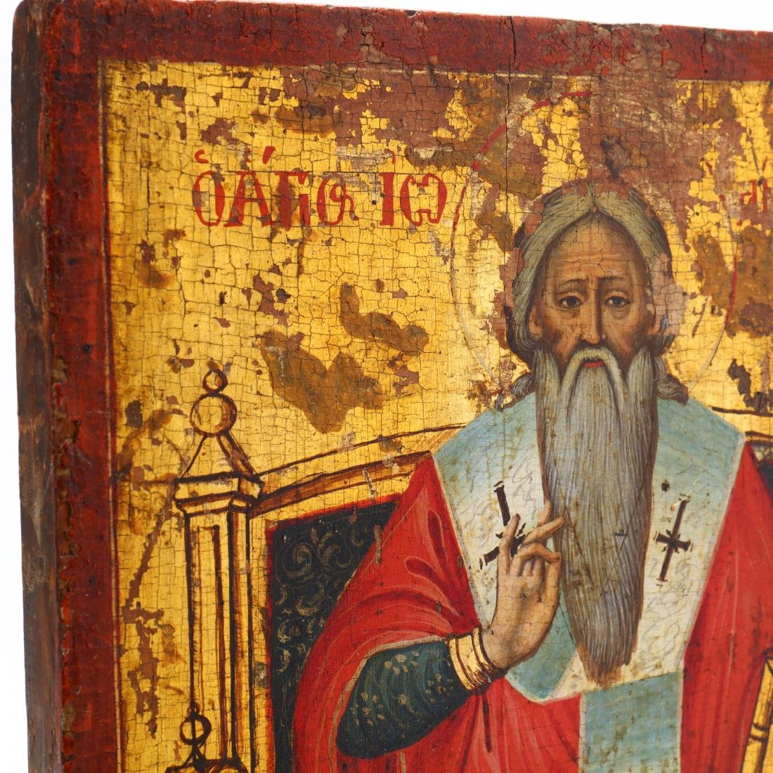 An Antique Icon, Possibly Saint Clement of Ohrid - 3