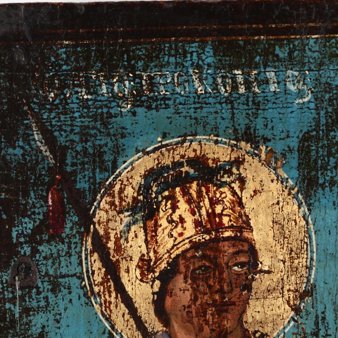 An Antique Greek Icon of Two Saints - 3