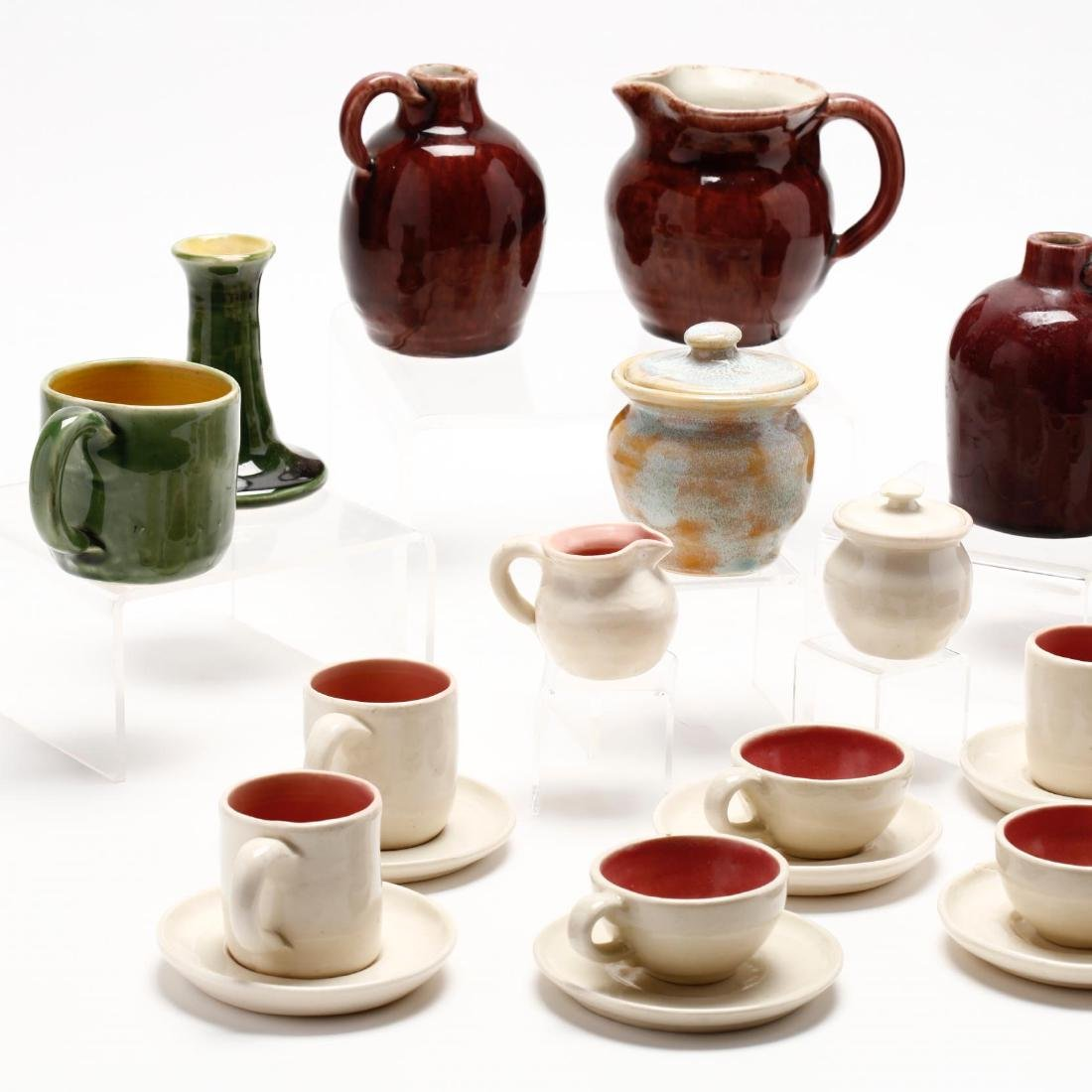 24 Pieces of Pisgah Forest Utilitarian Pottery - 2