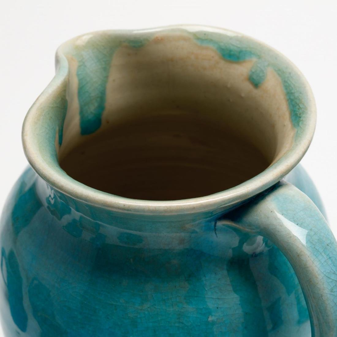 Ten Pieces of Turquoise Glazed Pisgah Forest Pottery - 7