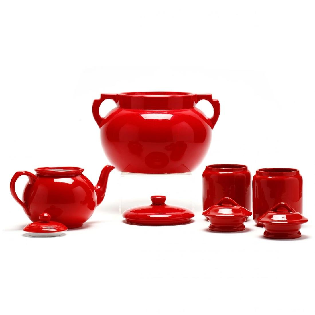 An Assortment of Red Glazed Pottery Tableware - 10