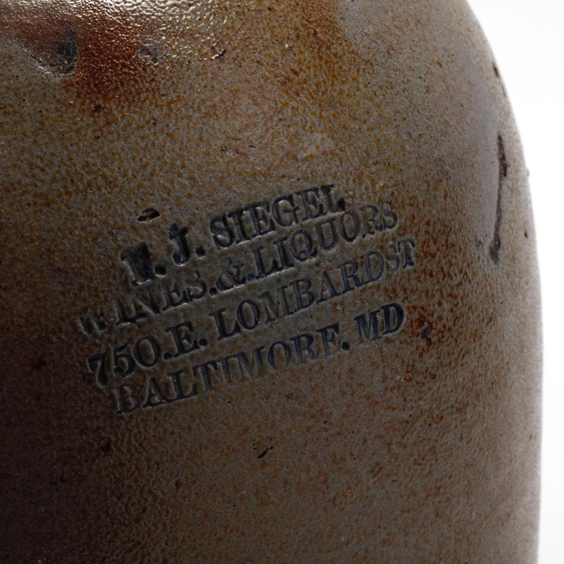 A Baltimore Salt Glazed Advertising Jug - 2