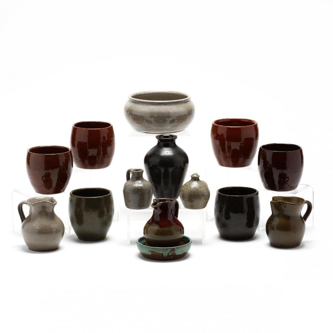 An Assortment of Jugtown Pottery