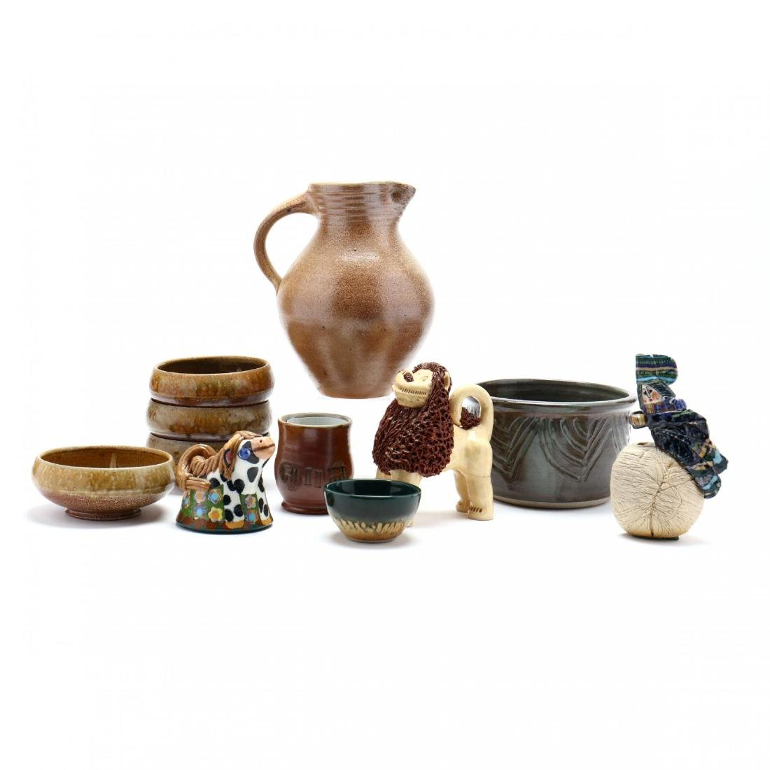 An Assortment of Contemporary Southern Pottery