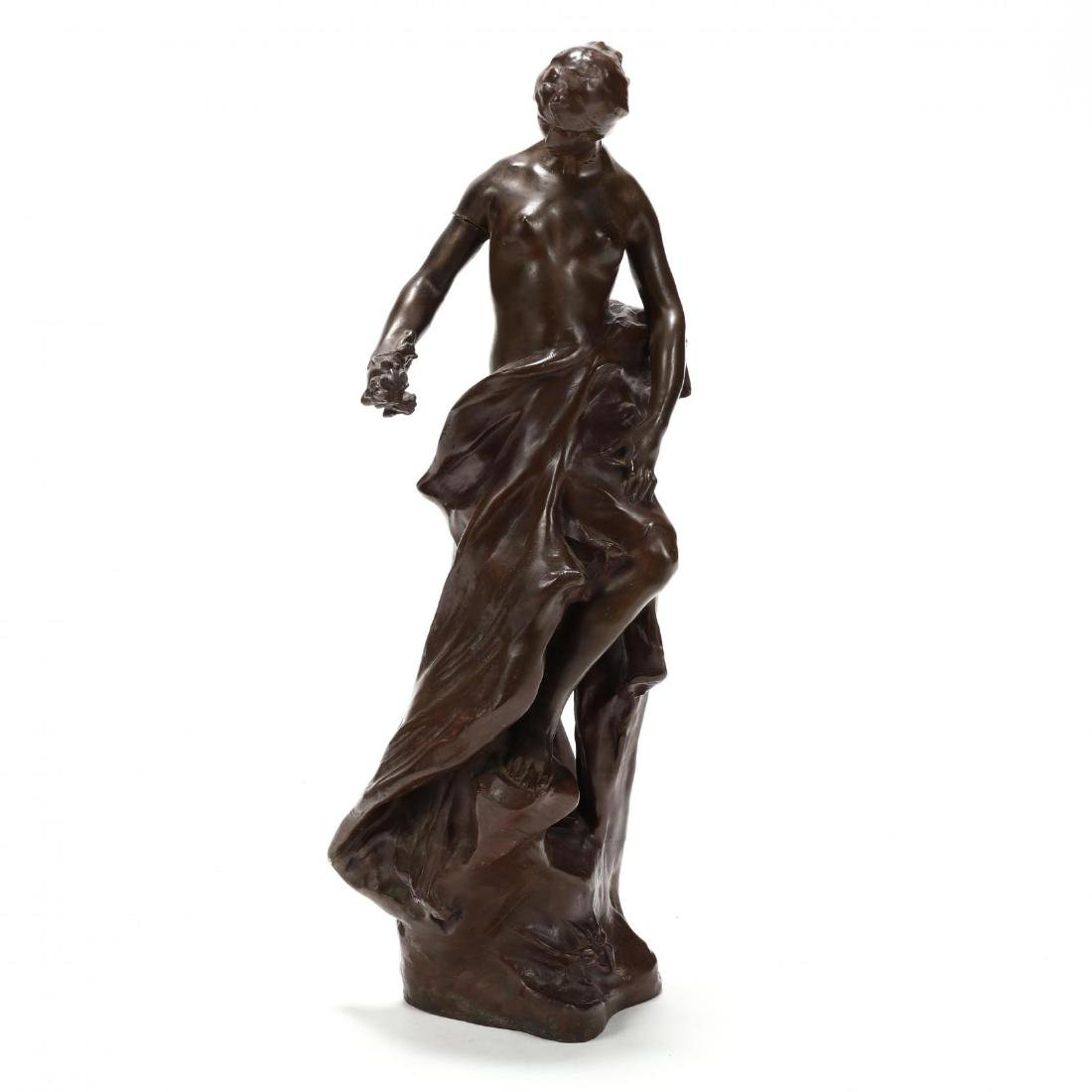 Pierre Devaux (French 1865-1938), Bronze Sculpture of a