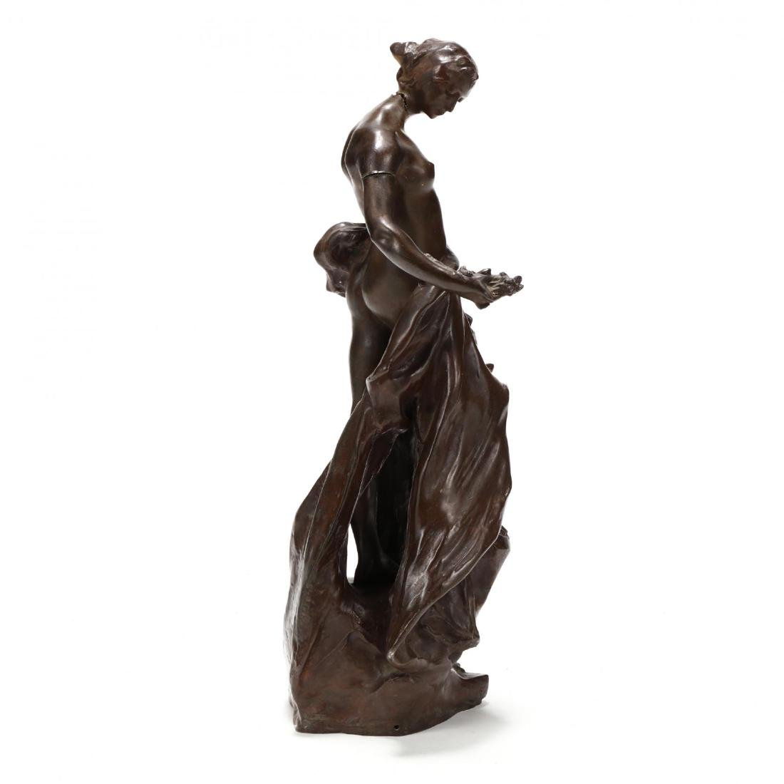 Pierre Devaux (French 1865-1938), Bronze Sculpture of a - 2