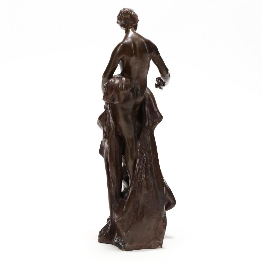 Pierre Devaux (French 1865-1938), Bronze Sculpture of a - 3