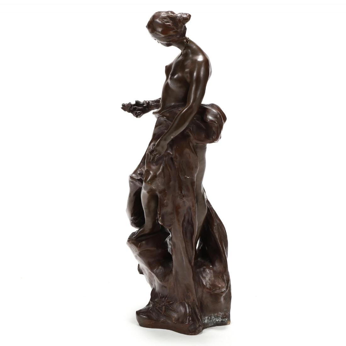 Pierre Devaux (French 1865-1938), Bronze Sculpture of a - 5