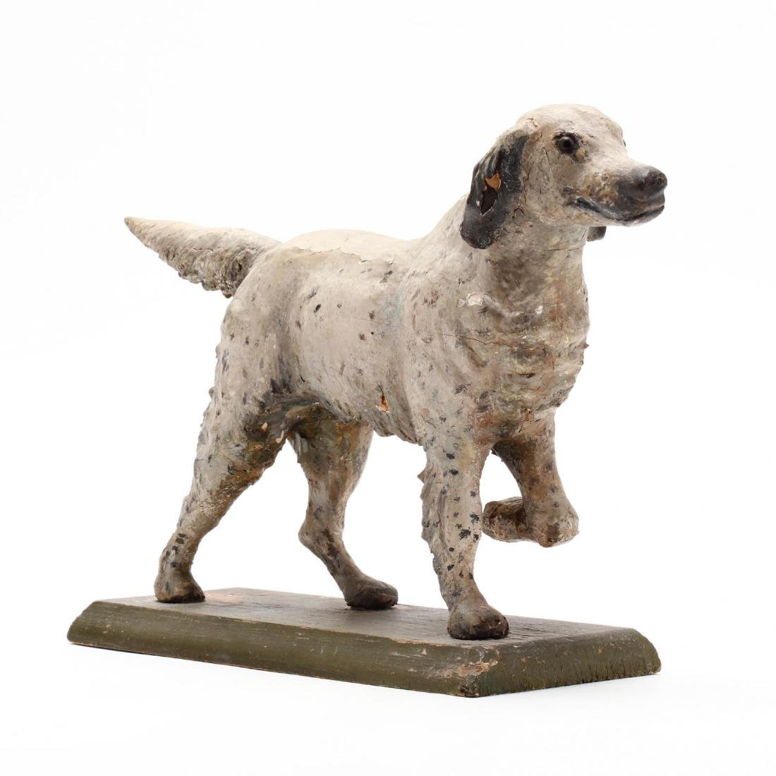 Folky Carving of a Setter