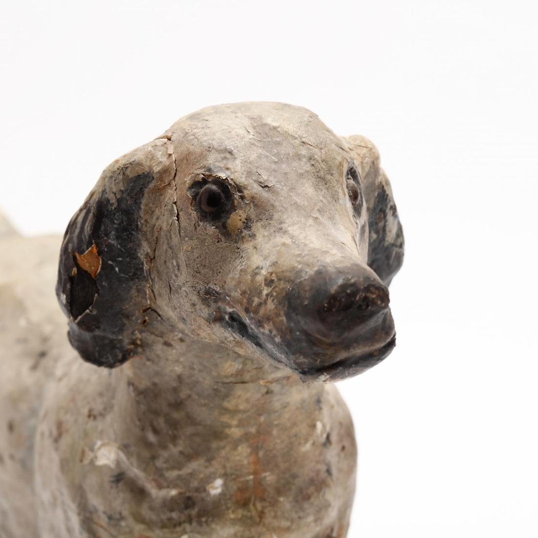 Folky Carving of a Setter - 2