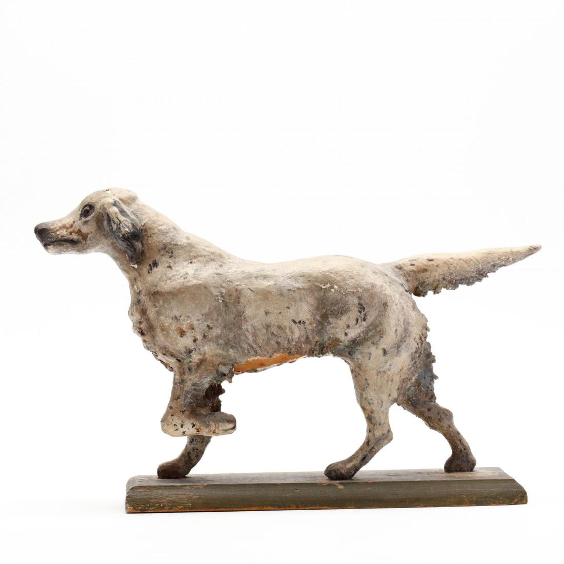 Folky Carving of a Setter - 4