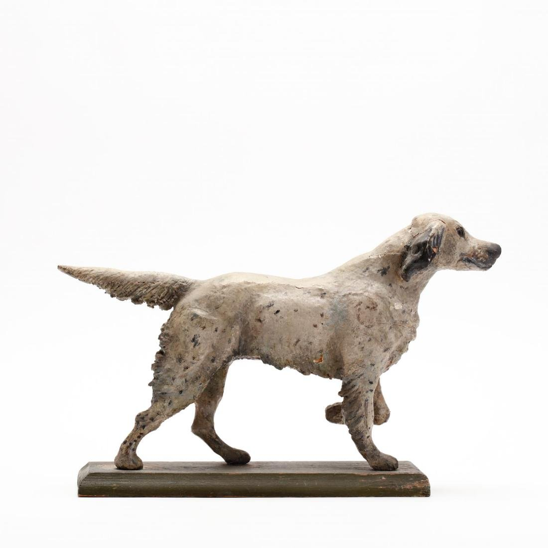 Folky Carving of a Setter - 6