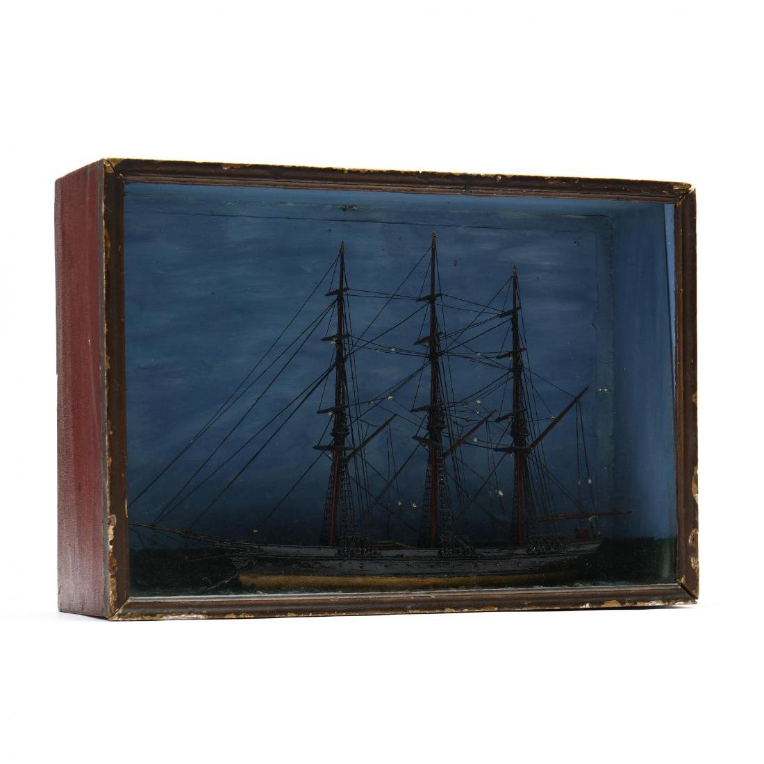 Nautical Diorama of a Full-Rigged Ship - 2