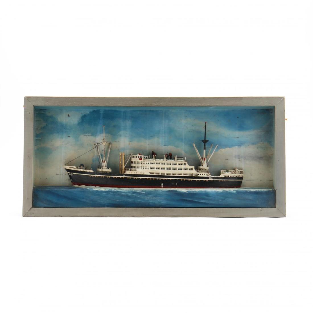 Half Hull Steamship Diorama