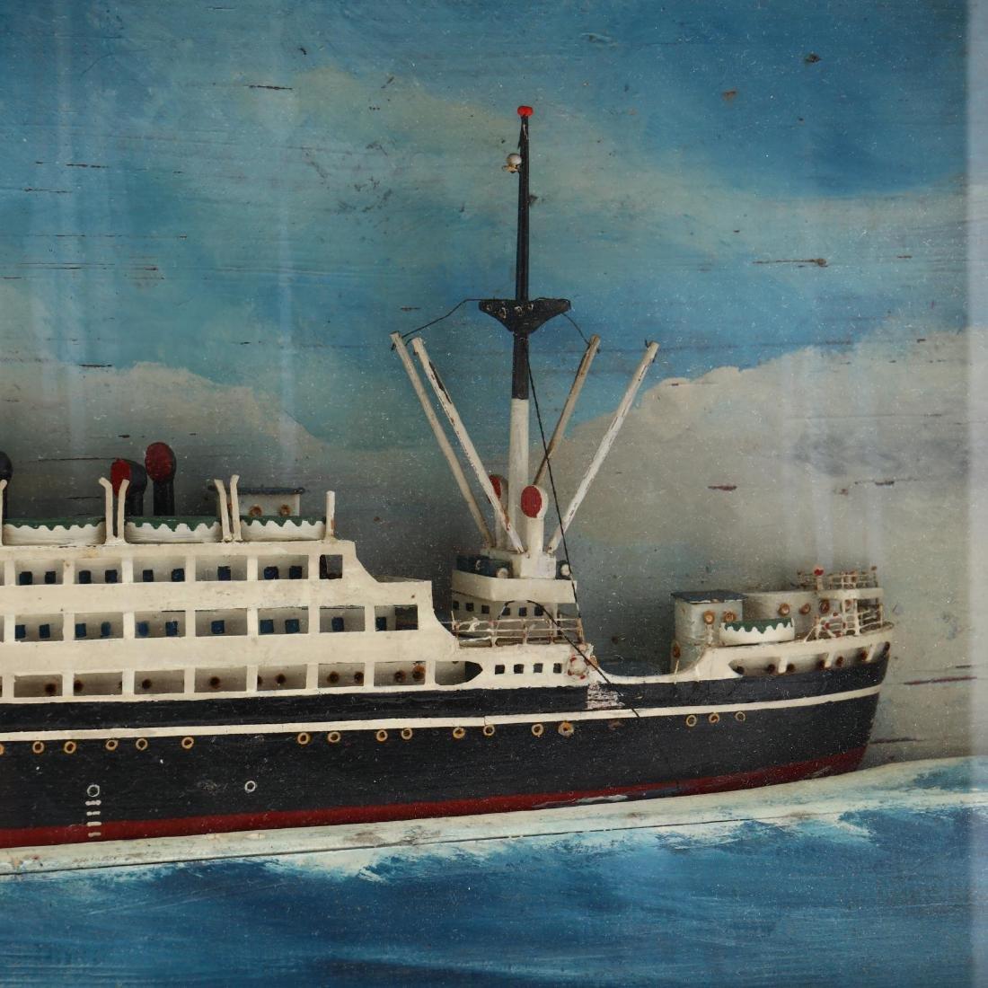 Half Hull Steamship Diorama - 2