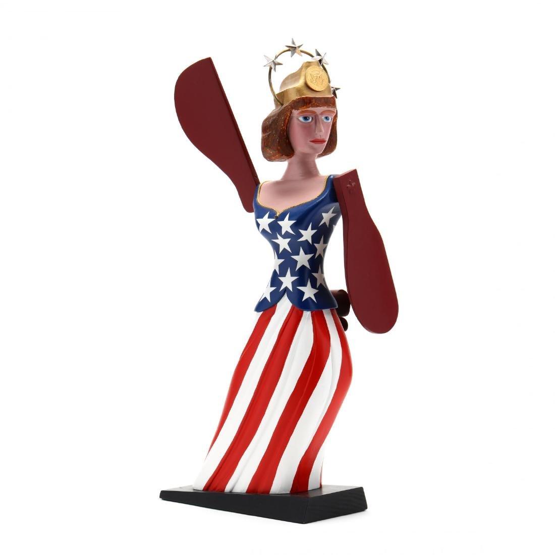 Lady Liberty Folk Art Whirligig, Nicholas Arena
