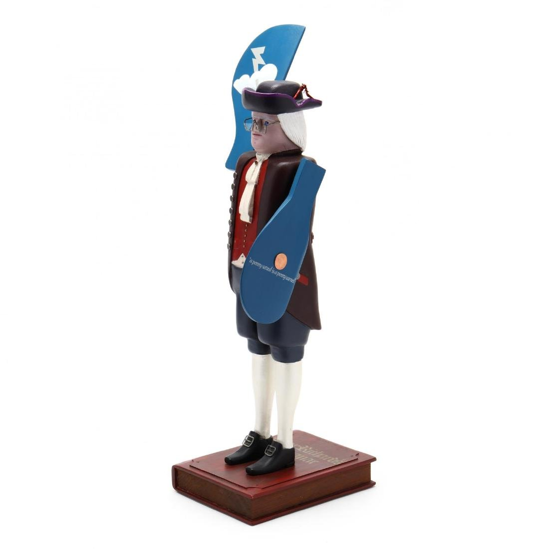 Ben Franklin , Folk Art Whirligig, Nicolas Arena - 2