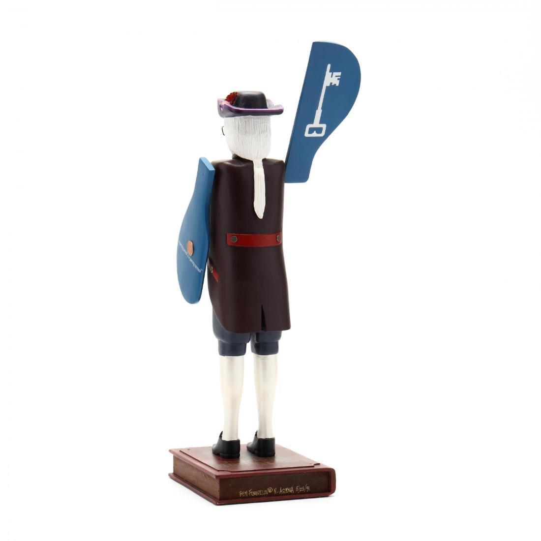 Ben Franklin , Folk Art Whirligig, Nicolas Arena - 5