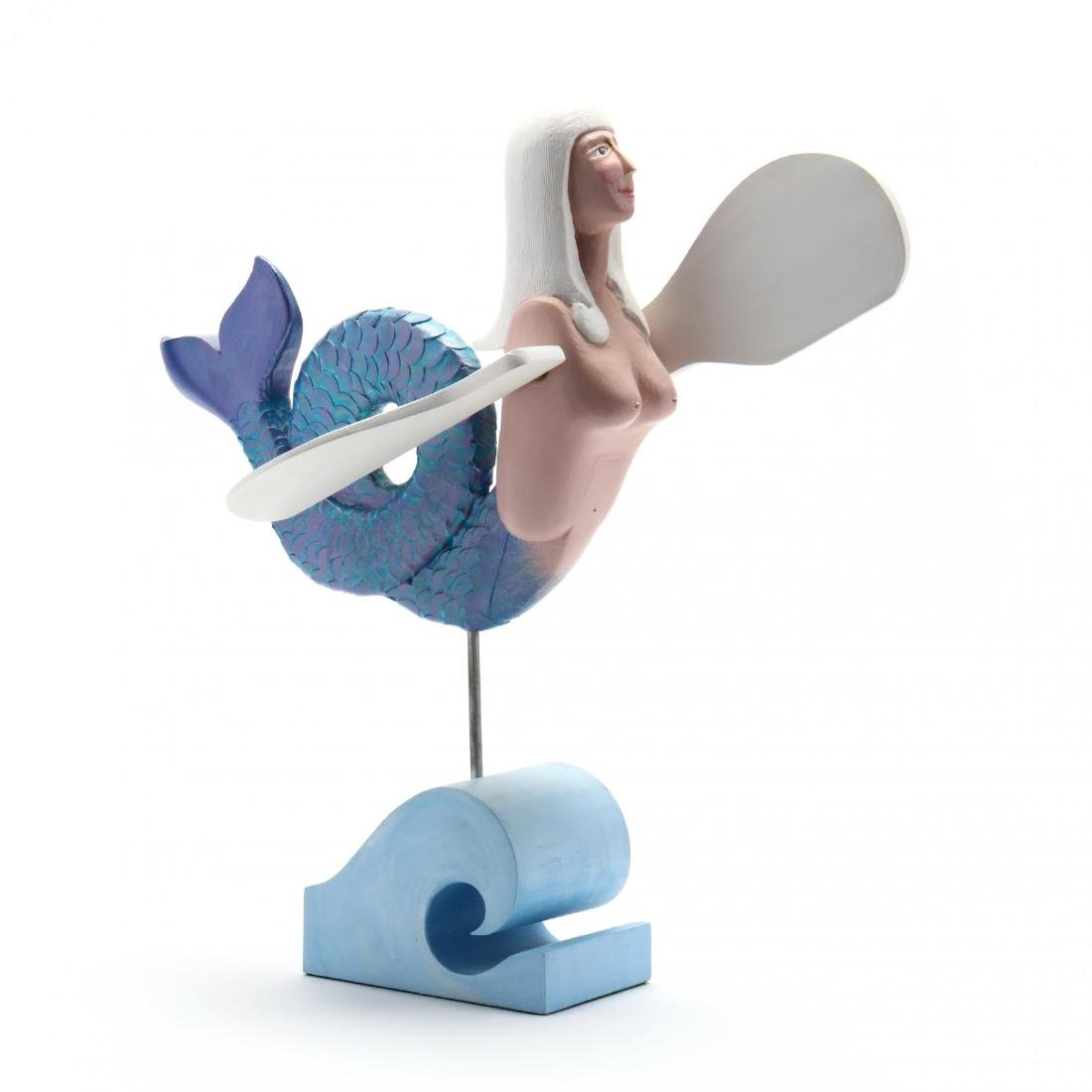 Folk Art Whirligig of a Mermaid, Nicolas Arena